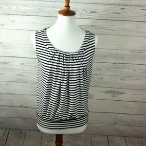 Ann Taylor LOFT Striped Sleeveless Top Small